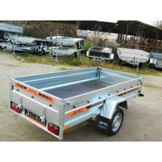 Remorca auto 750kg Agro basculabil 265x132cm (suspensie cu arcuri),RAR Efectuat