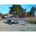 Remorca auto 750 kg Agro basculabil 233x132cm, 6 RATE Fara Dobanda, cu RAR
