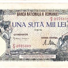 Bancnota 100000 lei 28 mai 1946 - Bancnota romaneasca