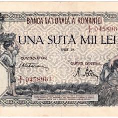 Bancnota 100000 lei 1 aprilie 1946 - Bancnota romaneasca