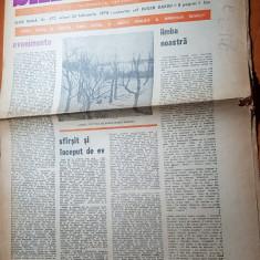 """Ziarul saptamana 24 februarie 1978-art. """"evenimente """" de corneliu vadim tudor"""