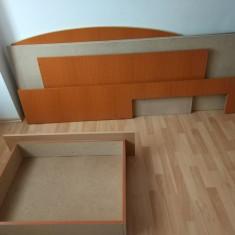 Pat din PAL, 140x200 + saltea - Pat dormitor