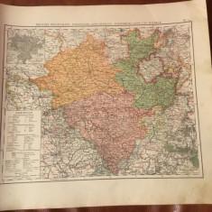 Prusia / Harta inceput de secol XX Provincia prusaca Westfalen ... - Harta Germaniei