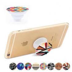 Suport Telefon iPhone Samsung Nokia HTC Stand Finger Grip Universal Geometrie - Suport auto GPS