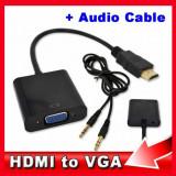 Cablu - Adaptor HDMI - VGA + cablu audio