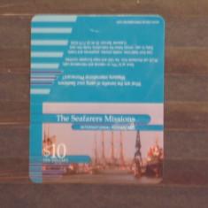 ANTILELE ENGLEZE- THE SEAFARES MISSIONS INTERNATIONAL PHONE CARD - 10$. - Cartela telefonica straina