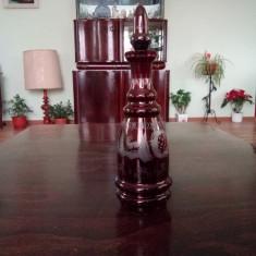 Sticla Decantor Cristal Rosu Rubin