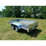 Remorca auto 750 kg Niewiadow cu punte tandem 304x150 cm, RAR Efectuat