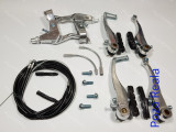Set Manete - Maneta + cablu + frana - frane V-BRAKE Bicicleta