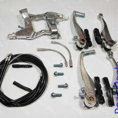 Set Manete - Maneta + cablu + frana - frane V-BRAKE Bicicleta - Piesa bicicleta