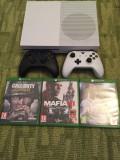 Vand Xbox One S 500 GB+2 controlere+4 jocuri