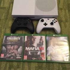 Vand Xbox One S 500 GB+2 controlere+4 jocuri - Consola Xbox