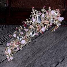Diadema, tiara roz pentru ocazii speciale - Tiare mireasa