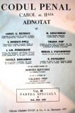 CODUL PENAL CAROL AL II-LEA,  ADNOTAT  DONGOROZ PAPADOPOLU 1937 3 vol, Alta editura