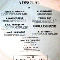 CODUL PENAL CAROL AL II-LEA,  ADNOTAT  DONGOROZ PAPADOPOLU 1937 3 vol