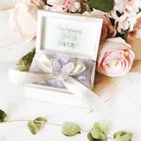 Bride's Love Gift Set- Set Cadou Jartiera Dantela Mireasa Personalizata si Cutiuta Verighete - Patch Panel