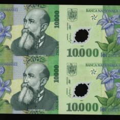 COALA NETAIATA 4 X 10000 LEI 2000 GHIZARI POLIMER UNC NECIRCULATA + CERTIFICAT - Bancnota romaneasca