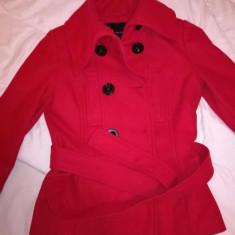 Palton rosu zara Basic - Palton dama, Marime: M/L