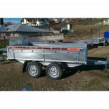 Remorca auto 750 kg BH punte tandem cu dimensiune 300X150 cm