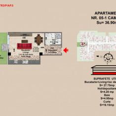 Garsoniera, Brasov, Mall Coresi, 2017, 37.05 mp - Garsoniera de vanzare, Parter