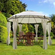 Pavilion rotund cu draperii 3, 5 x 2, 7 m - Pavilion gradina