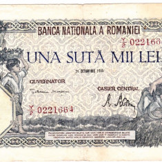 Bancnota 100000 lei 21 octombrie 1946 - Bancnota romaneasca