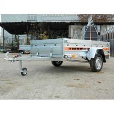 Remorca auto 750 kg Agro basculabil 233x132 cm(suspensie cu arcuri), RAR Efectuat