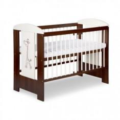 Patut pentru copii din lemn Klups Safari Little Giraffe - Patut lemn pentru bebelusi