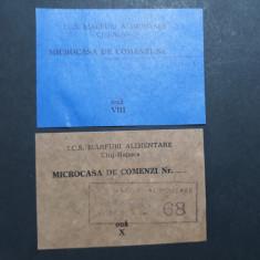 TICHET CARTELA ALIMENTE - OUA - MICROCASA DE COMENZI CLUJ - ANII 1980