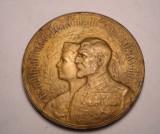 Medalie Regele Ferdinand Regina Maria Incoronarea de la Alba Iulia 1922