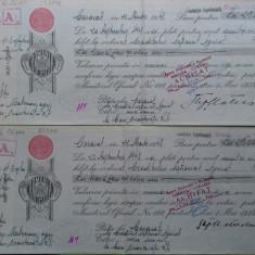 Olt Caracal Bilet la ordin cu timbru si apostila 1948