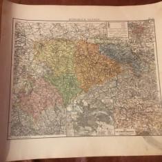 Harta inceput de secol XX Regatul Sachsen ! - Harta Germaniei