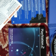 Sony PlayStation PS2 network access disk complet/manual PAL DVD soft - Jocuri PS2