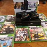 Consola Xbox 360 Microsoft + 2 controllere + 10 jocuri
