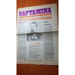 ziarul saptamana 21 ianuarie 1977- 118 ani de la unirea lui cuza