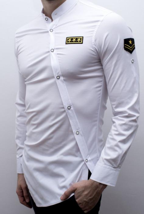 Camasa asimetrica Army - camasa army asimetrica camasa slim fit  cod 163