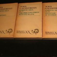 FORSYTE SAGA-GALSWORTHY-3 VOL-ROMAN- SERC-XX-TRAD. HENRIETTE YVONNE STAHL-