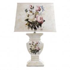Veioza Crem Flower ceramica