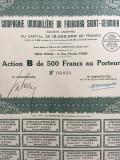 500 Franci Actiune Compagnie Immobiliere Du Faubourg Sain-Germain