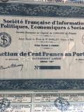 100 Franci Actiune Societe Francaise d'Informations Politiques
