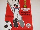Program meci fotbal ANGLIA - ROMANIA (11.09.1985)