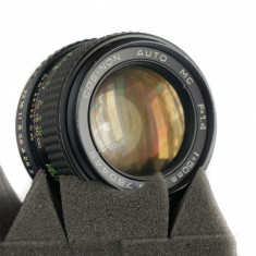 Obiectiv Cosina Cosinon MC 50mm 1.4 montura Pentax K adaptabil Sony, Fuji, Canon - Obiectiv DSLR Pentax, Standard, Manual focus