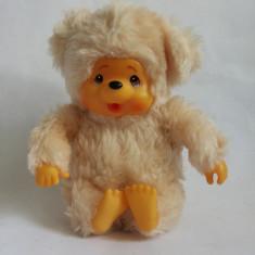 Monchhichi (kiki, Moncici) ursulet alb-crem, maimutica jucarie plus 15 cm - Jucarii plus