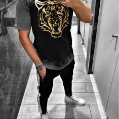 Tricou pentru barbati, cu model, slim fit, casual - BB18102, L