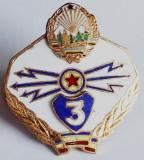 ROMANIA ARMATA MILITAR INSIGNA SPECIALIST DE CLASA TRANSMISIUNI CL. 3 A RSR **