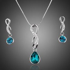 Set Bijuterii AZ23 Lux Azory Light Blue Ocean - Set bijuterii inox