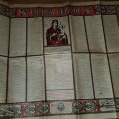 Calendar crestin ortodox anul 1987-popaganda comunista pe marginea calendarului