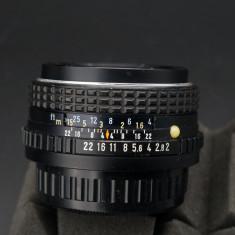 Obiectiv SMC Pentax M 50mm f2 Pentax K adaptabil digital - Obiectiv DSLR Pentax, Standard, Manual focus