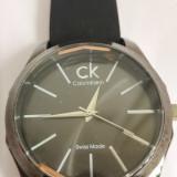 Ceas de mana Calvin Klein barbatesc Swiss Made, curea piele CK