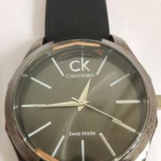 Ceas de mana Calvin Klein barbatesc Swiss Made, curea piele CK - Ceas barbatesc Calvin Klein, Quartz